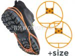 "Ice cleats for footwear, ""round"", bigger version  The outside appearance of the product may not be the same as in the image. We are constantly upgrading our products to improve their quality"